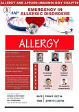 Allergy and Applied Immunology Chapter: Emergency in Allergic Disorders