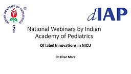 Off label Innovations in NICU