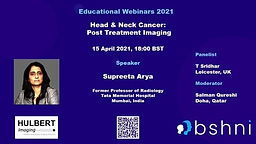 Head & Neck Cancer: Post Treatment Imaging