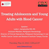 Treating Adolescents and Young Adults with Blood Cancer