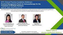 SITC Cancer Immunotherapy Guidelines Webinars