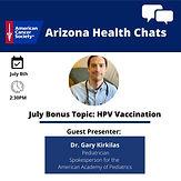 ACS AZ Health Chat - Immunizations/HPV