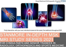 STANMORE IN-DEPTH MSK MRI STUDY SERIES 2021