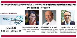 Intersectionality of Obesity, Cancer and Basic/Translational Health Disparities Research