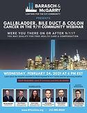 Gallbladder, Bile Duct & Colon Cancer in the 9/11 Community Webinar