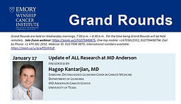 Grand Rounds - Update of ALL Research at MD Anderson