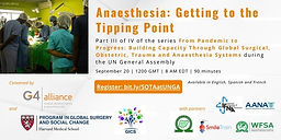 Anaesthesia: Getting to the Tipping Point