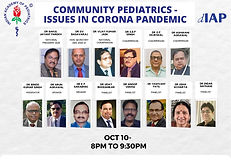 Community Pediatrics - Issues in Corona Pandemic