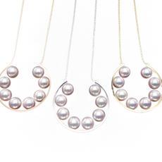 #74640 K18 Akoya Pendant N Pearl size 6.5mm #75257 WG ver. #75259 PG ver. 