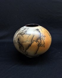 "Sphere - Horsehair with Iron Stain - 7""H"