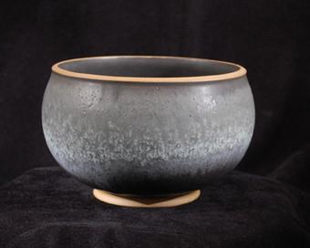 "Bowl - Black Glaze - 6""H"