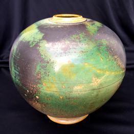 """Sphere - Copper Glaze - 8""""H"""