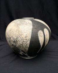 "Sphere- White Glaze - 10""H"