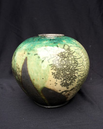 """Sphere - Copper Glaze - 7""""H"""