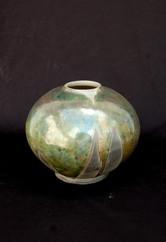 """Sphere- Copper Glaze - 6""""H"""