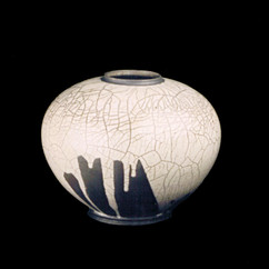 "Sphere- White Glaze - 12""H"