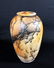 "Jar - Horsehair with Iron Stain - 15""H"