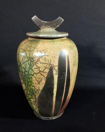 "Jar - Copper Glaze - 15""H"