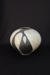 "Sphere - White Glaze - 11""H"