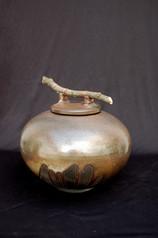 "Jar - Copper Glaze - 13""H"