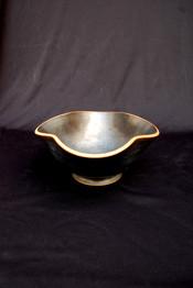 "Altered Bowl - Black Glaze - 5""H"