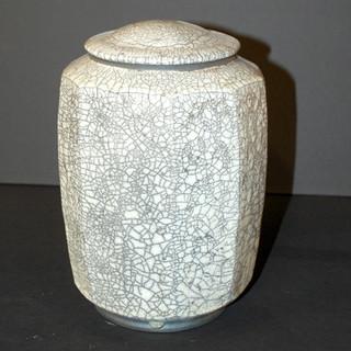 "Jar - White Glaze - 8""H"