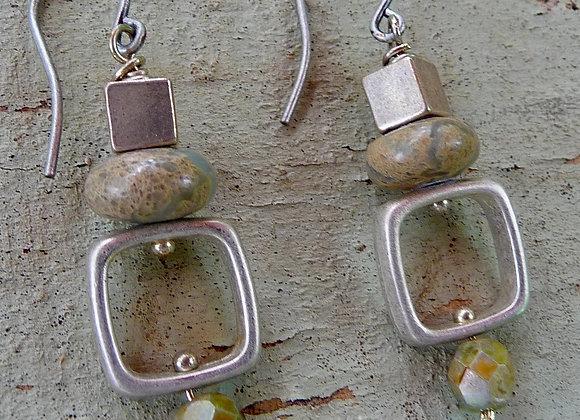 Aqua Terra Jasper drop earrings