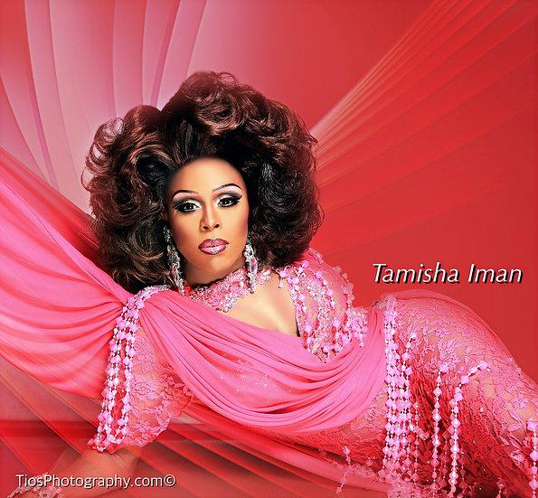 "Autographed Tamisha Iman ""Pink Radiance"" Photo"