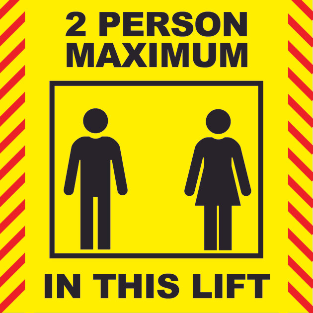 Social Distancing Lift stickers