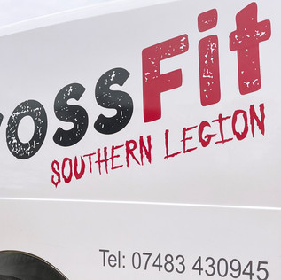 Crossfit van graphics
