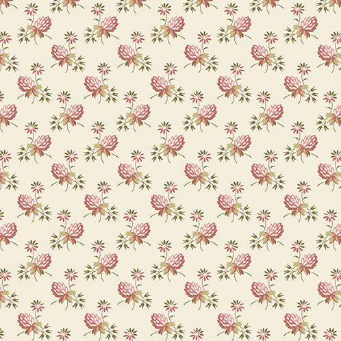 Clover   Color: Cream   Edyta Sitar   Laundry Basket Quilts   A-9451-E