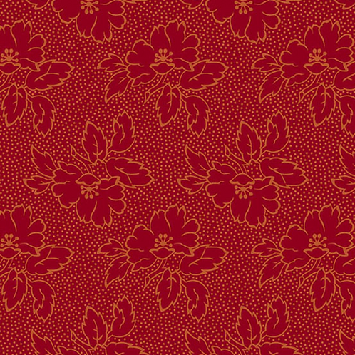 Silhouette Floral | Color: Red | Edyta Sitar | Laundry Basket Quilts | A-8752-R