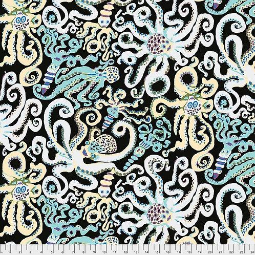 Octopus Black | Kaffe Fassett Collective