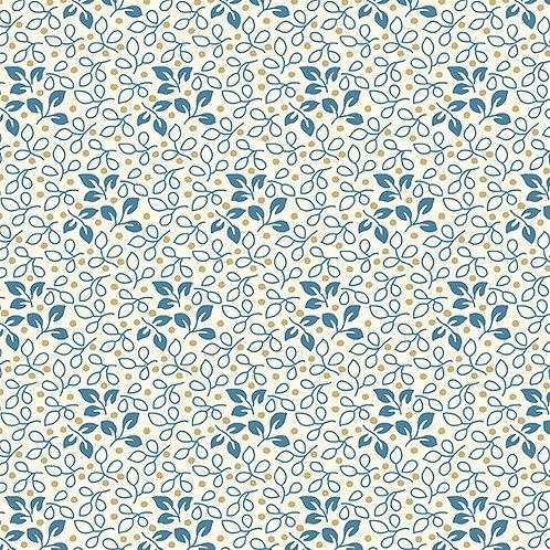 Leaf | Color: Royal | Edyta Sitar | Laundry Basket Quilts | A-9585-B