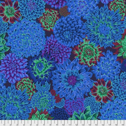 Dancing Dahlias in Blue | Kaffe Fassett Collective