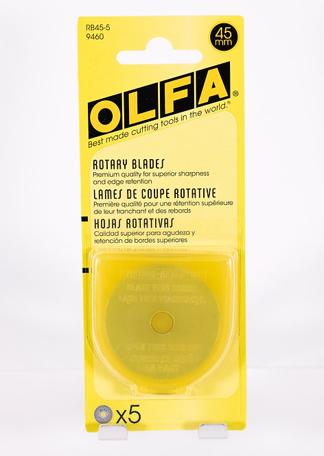 Olfa 45mm Rotary Blade | 5 ct