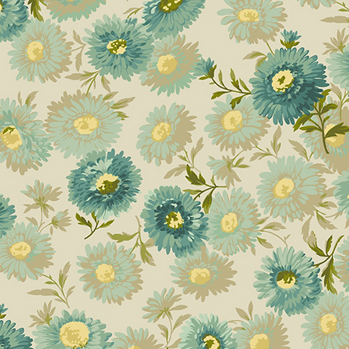 Daisies | Color: Teal | Edyta Sitar | Laundry Basket Quilts | A-8751-T