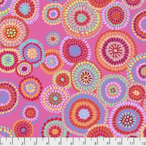 Mosaic Circles Pink | Kaffe Fassett Collective