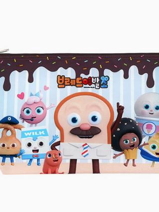 브레드이발소-캐릭터 초콜릿 어린이 식판 가방 주머니 케이스 집