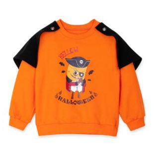브레드이발소-포테토공작 유아 할로윈 코스튬 맨투맨 티셔츠