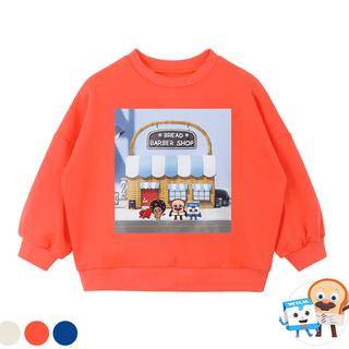브레드이발소-패치토핑 맨투맨 티셔츠(4종 패치세트)