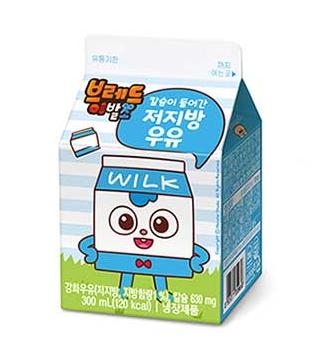 브레드이발소-칼슘이 들어간 저지방우유