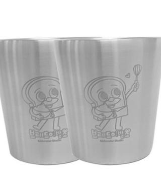 브레드이발소-스텐 이중 유아동 컵