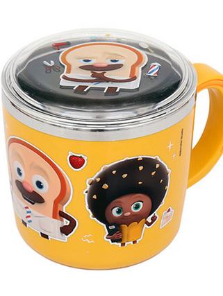 브레드이발소-아동 스텐 뚜껑 컵