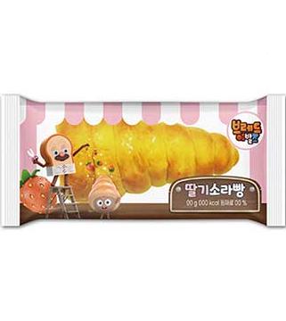 브레드이발소-딸기 소라빵