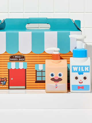 브레드이발소-밀크바오밥 에디션 선물 세트(키즈 워시,샴푸,컨디셔너,페이셜폼)