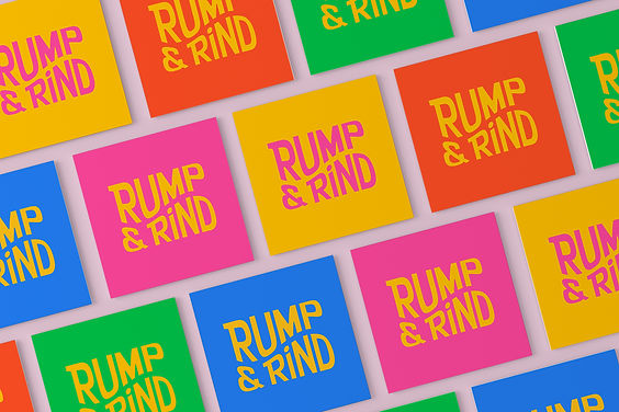 Rump & Rind Multi Colourway Square Busin