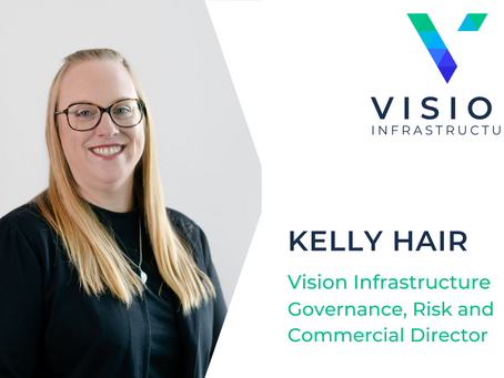 Congratulations to Kelly Hair who celebrates First Year with Vision Infrastructure