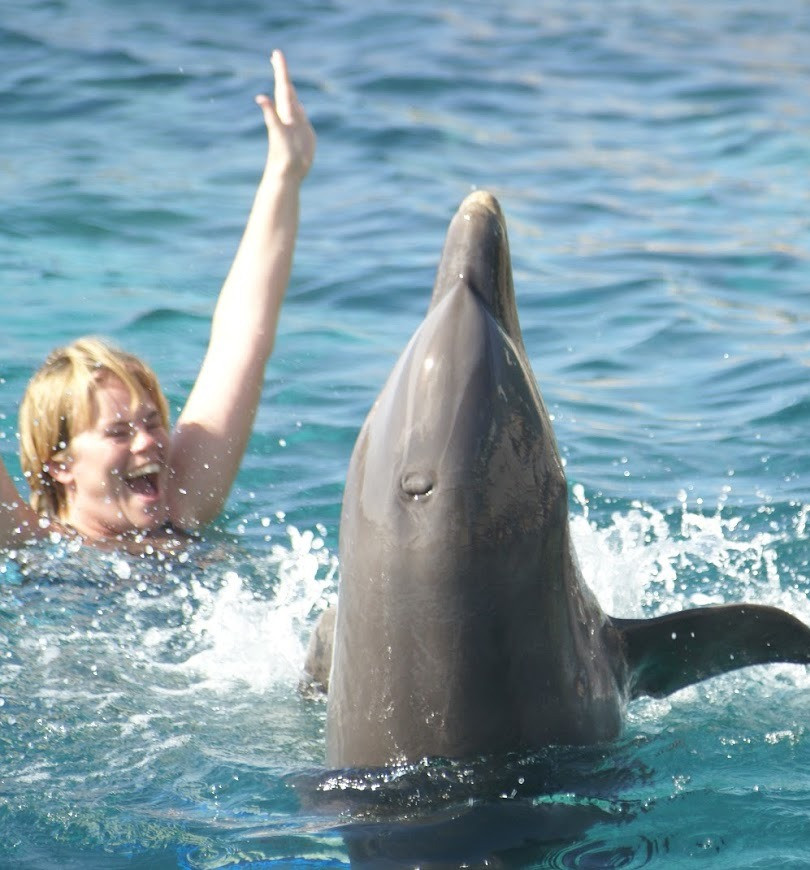 Jody with Dolphins
