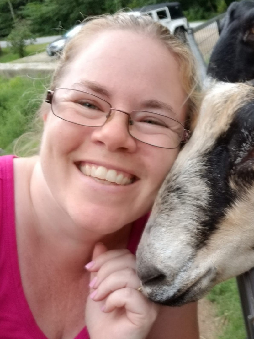 Jody with Goat